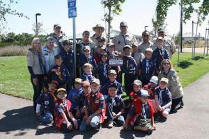 Oakley Boy Scout Troop 152 adopted Creekside Park