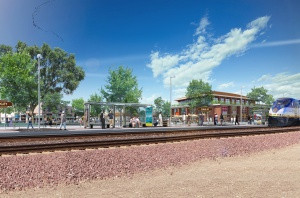 Oakley Train Platform Rendering 2